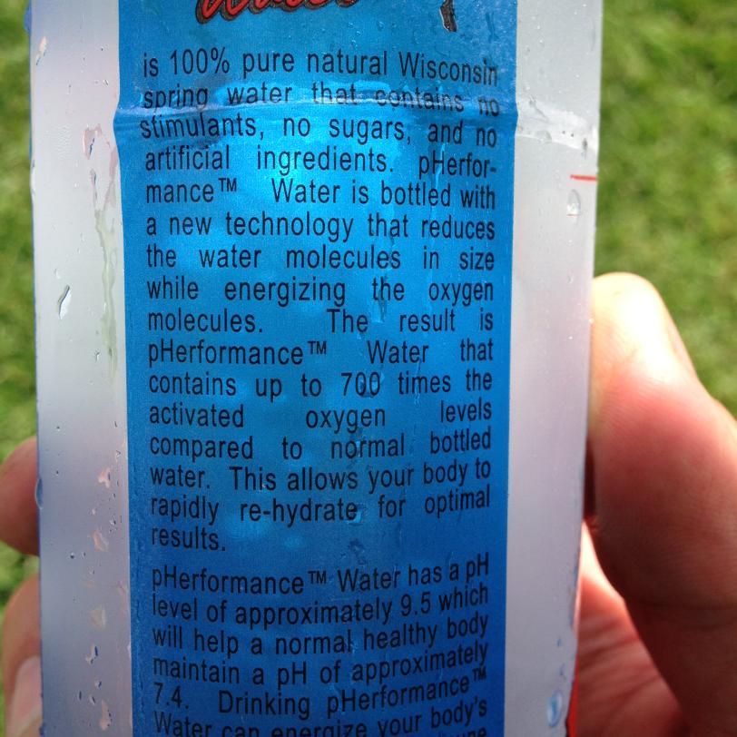Photo d'un pack d'eau