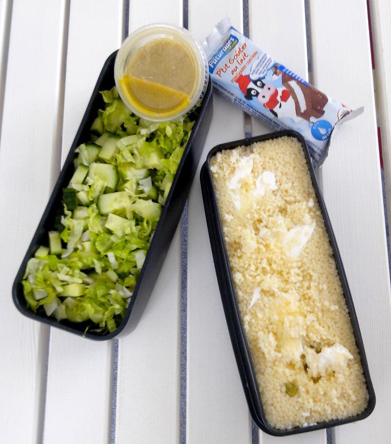 Bentô semoule et salade
