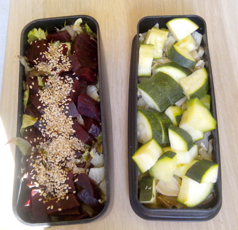 Bento courgettes