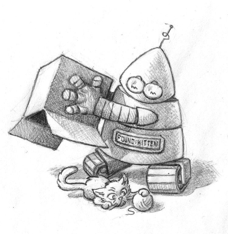 Robot Finds Kitten by sko