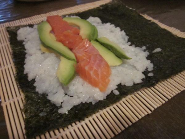Avocat et saumon cru