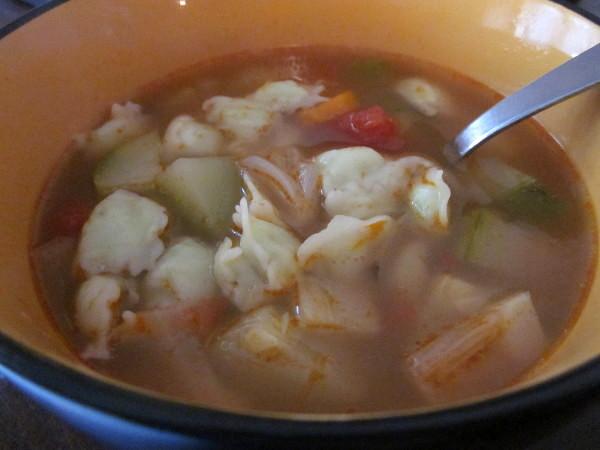Ça, c'est de la soupe aux ravioles