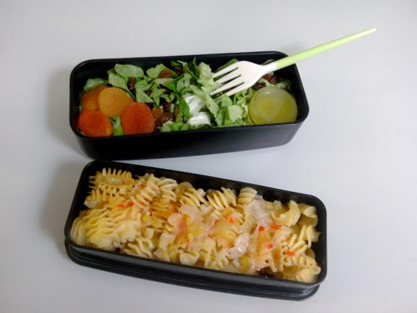 Pâtes, salade et fruits secs