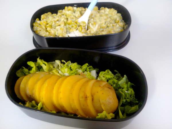 Bentō patate riz pois cassés