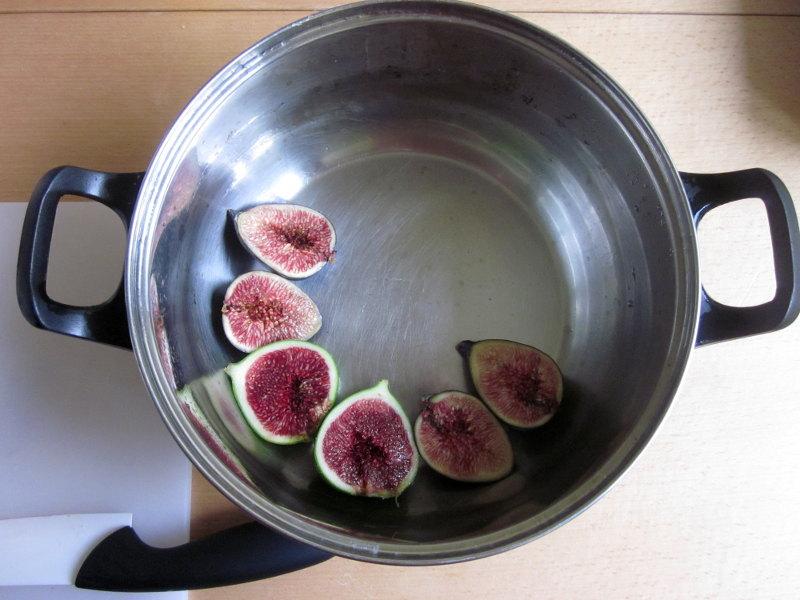 Paupiettes aux figues, première étape : déposer les figues