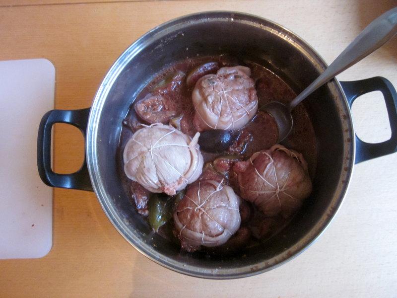 Paupiettes aux figues après cuisson
